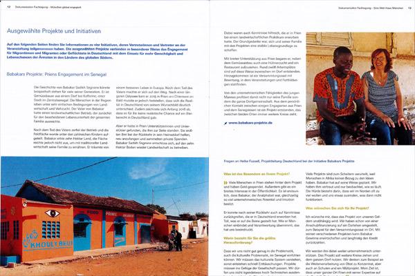 Weltsichten, August 2019: Babakars Projekte